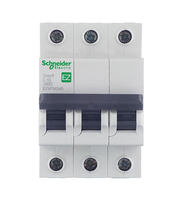 Автомат 3P 40А тип С 4.5 kA Schneider Electric Easy9 автомат 1p 6а тип с 4 5ка schneider electric easy9