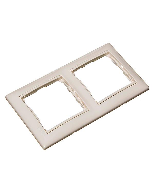 Рамка двухместная Legrand Valena слоновая кость ключ блокировки для розеток legrand 50299