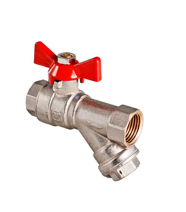 Краншаровый1/2в/всфильтром,бабочкаValtec фильтр грубой очистки valtec прямой 1 2 в н хром vt 387