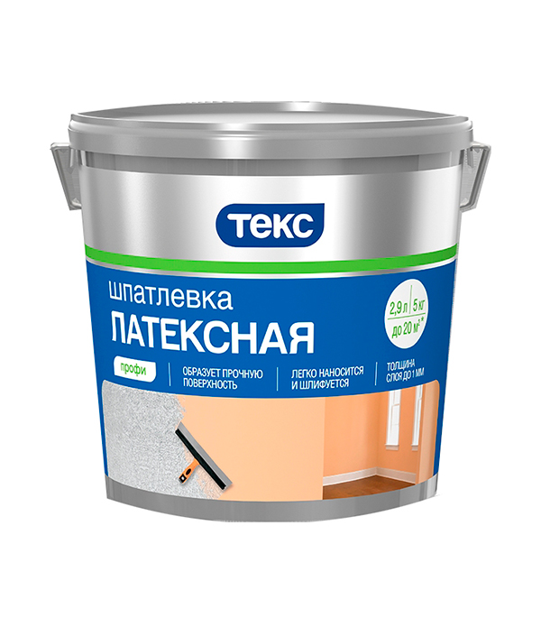 Шпатлевка латексная профи Текс  5 кг