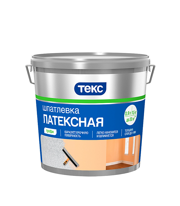 Шпатлевка латексная профи Текс  1,5 кг