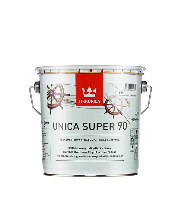Яхтный лак Tikkurila Unica Super основа EP глянцевый 2.7 л  лак яхтный unica super основа ep полуматовый тиккурила 9 л