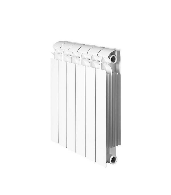 Радиатор биметаллический 1 GLOBAL Style Plus 500,  6 секций радиатор отопления global алюминиевые vox r 500 12 секций