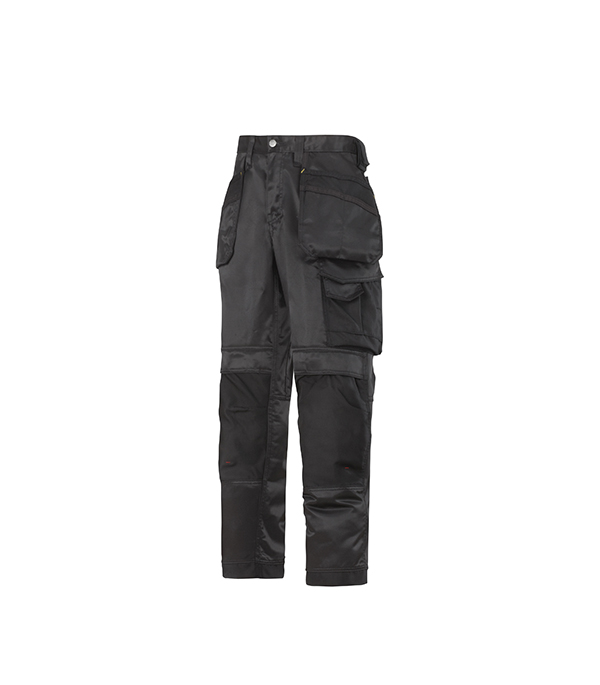 Брюки черные, размер 50, рост 170-182 Snickers workwear Профи