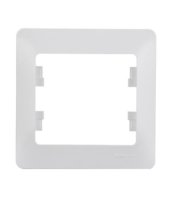 Рамка одноместная Schneider Electric Glossa белая механизм выключателя schneider electric glossa белый 1 клавишный с подсветкой gsl000113