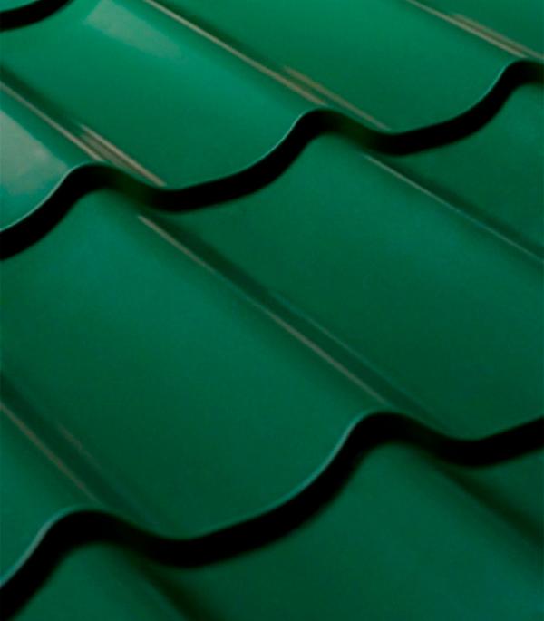 Металлочерепица 1,18х1,15 м толщина 0,45 мм зеленая RAL 6005 Арселор