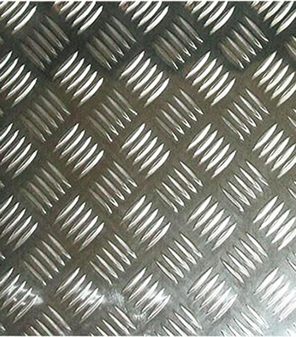 Лист алюминиевый рифлёный 1200х300х1,5 мм Квинтет