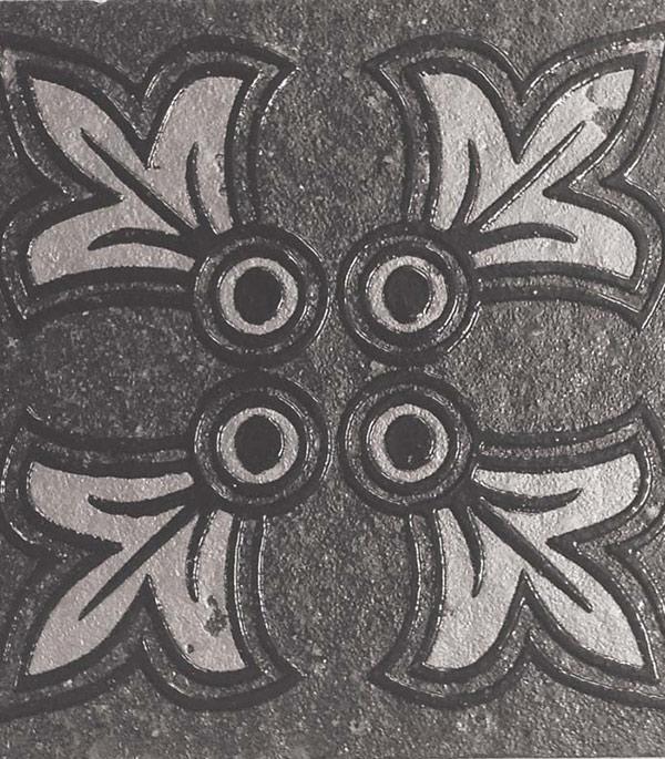 Керамогранит декор 70х70х9 мм Quartzite черный/Грасаро