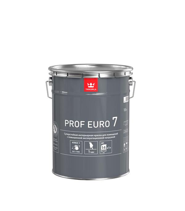 Краска в/д стойкая к мытью PROF EURO 7 основа A мат 18 л цена и фото