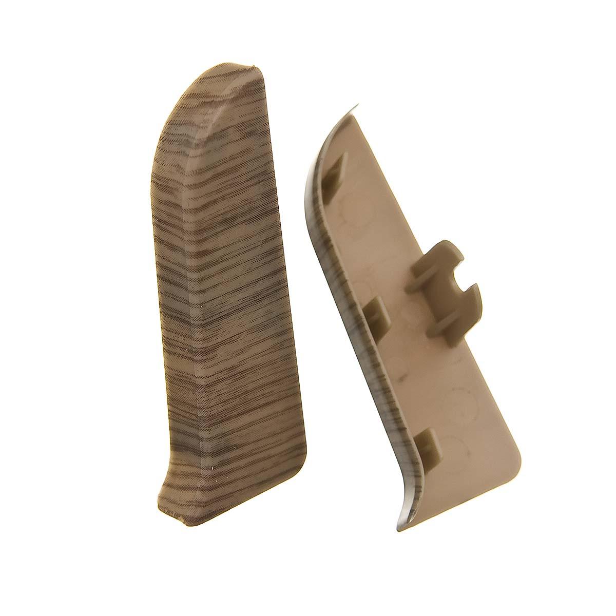 Заглушки торцевые (левая+правая) к плинтусу 68 мм меринос Nexus