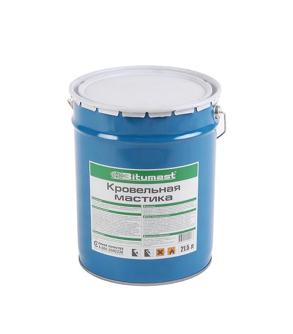 Мастика кровельная Bitumast 18 кг/21.5 л гидроизоляция акриловая bitumast 7 кг
