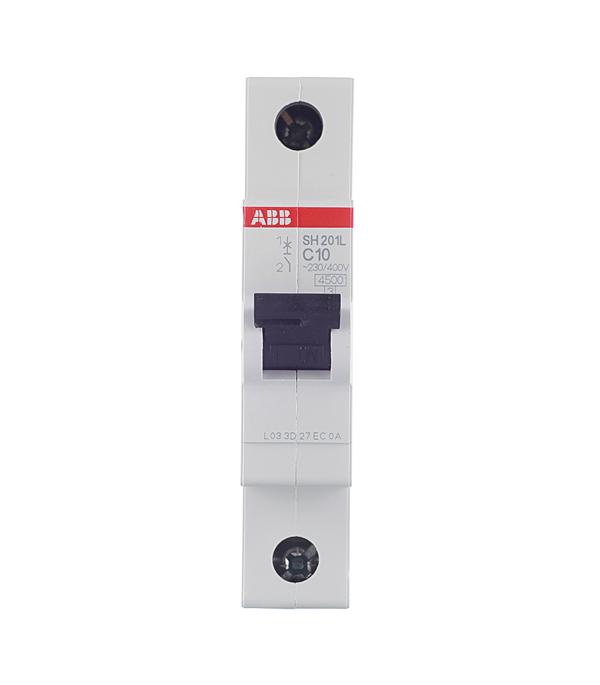 Автомат 1P 10А тип С 4.5 kA ABB SH201L телефонная розетка abb bjb basic 55 шато 1 разъем цвет черный