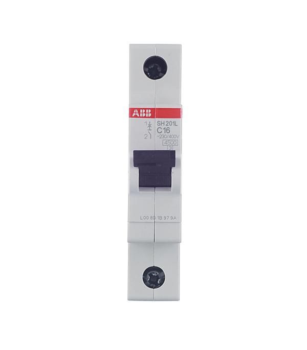 Автомат 1P 16А тип С 4.5 kA ABB SH201L телефонная розетка abb bjb basic 55 шато 1 разъем цвет черный