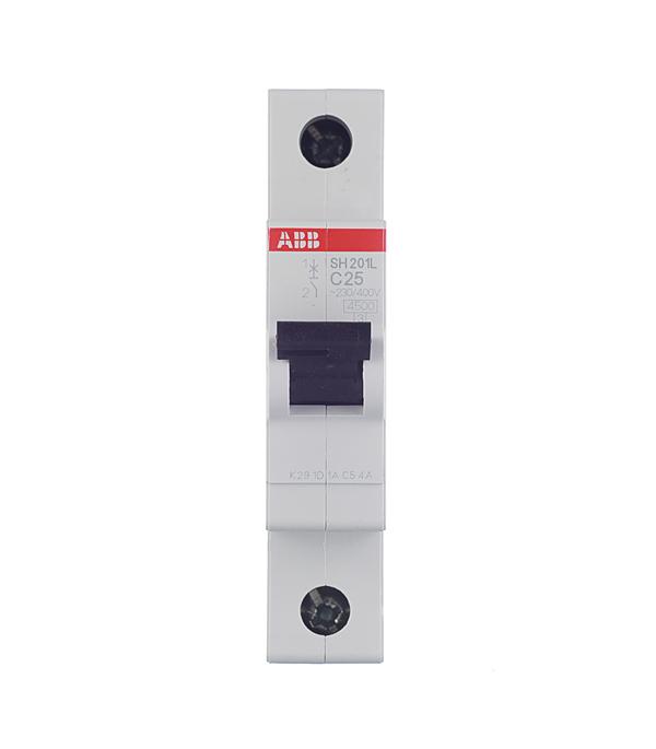 Автомат 1P 25А тип С 4.5 kA ABB SH201L телефонная розетка abb bjb basic 55 шато 1 разъем цвет черный