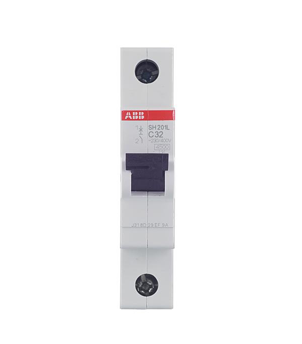 Автомат 1P 32А тип С 4.5 kA ABB SH201L телефонная розетка abb bjb basic 55 шато 1 разъем цвет черный