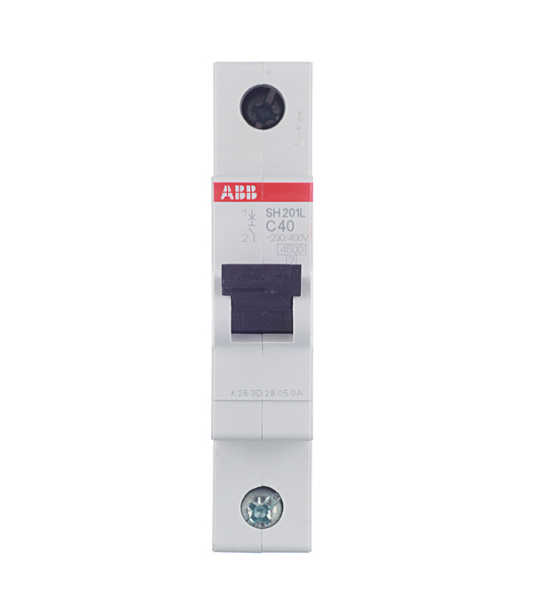 Автомат 1P 40А тип С 4.5 kA ABB SH201L дифференциальный автомат 1p n 25а тип c 30 ма 4 5 ka abb dsh941r
