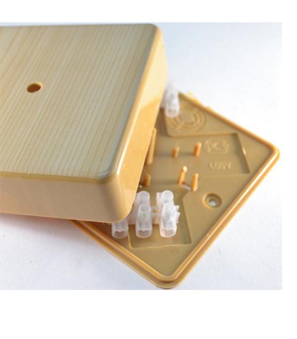 Коробка для кабель-каналов с клем.колодкой, 75х75х20 мм, сосна, IP40