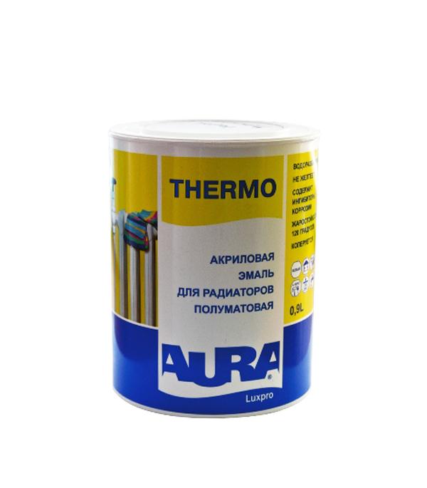 Эмаль для радиаторов  в/д Aura Luxpro Thermo полуматовая 0,9 л
