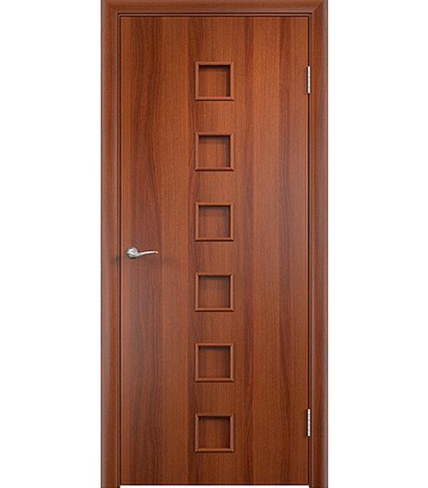 Дверное полотно ламинированное Верда С-9 Итальянский орех 800х2000 мм, глухое, без притвора