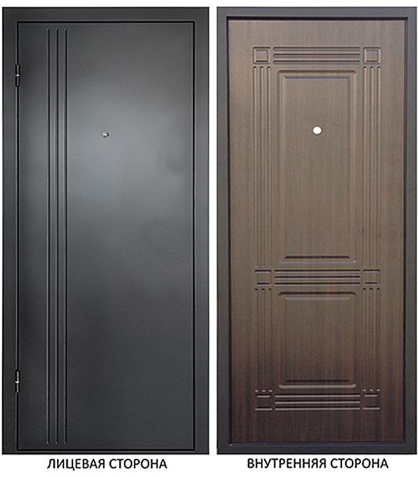 Дверь металлическая ДК Лайн 960x2050 мм правая , без цилиндра и ручки