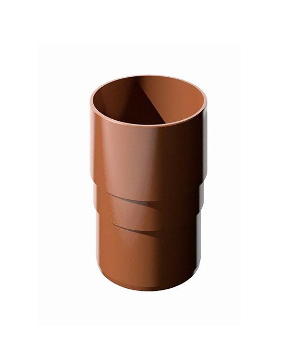 Муфта водосточной трубы пластиковая d82  мм коричневая Технониколь