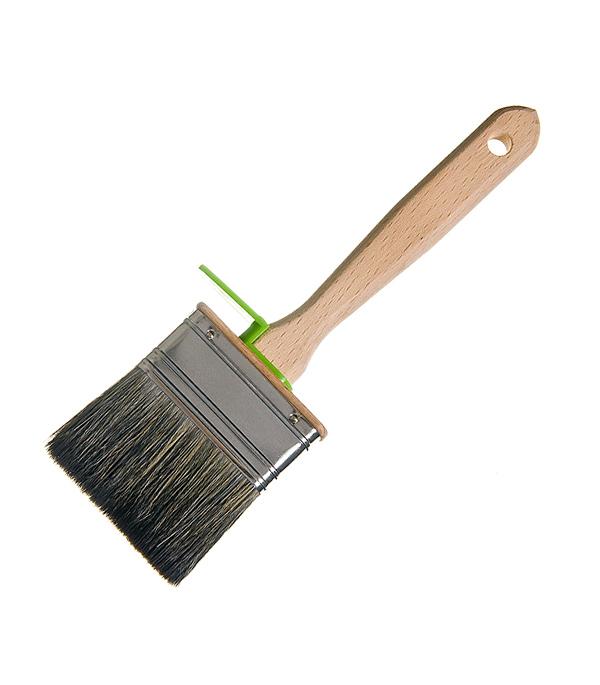 Кисть плоская  70х25 мм смешанная щетина деревянная ручка Лазурный берег Профи