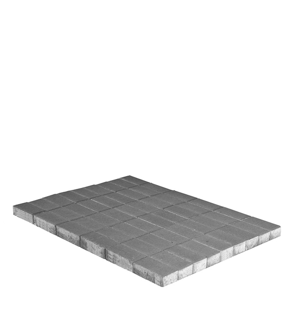 Плитка тротуарная Брусчатка (кирпичик) 100х200х80 мм серая щебень известняковый в калуге