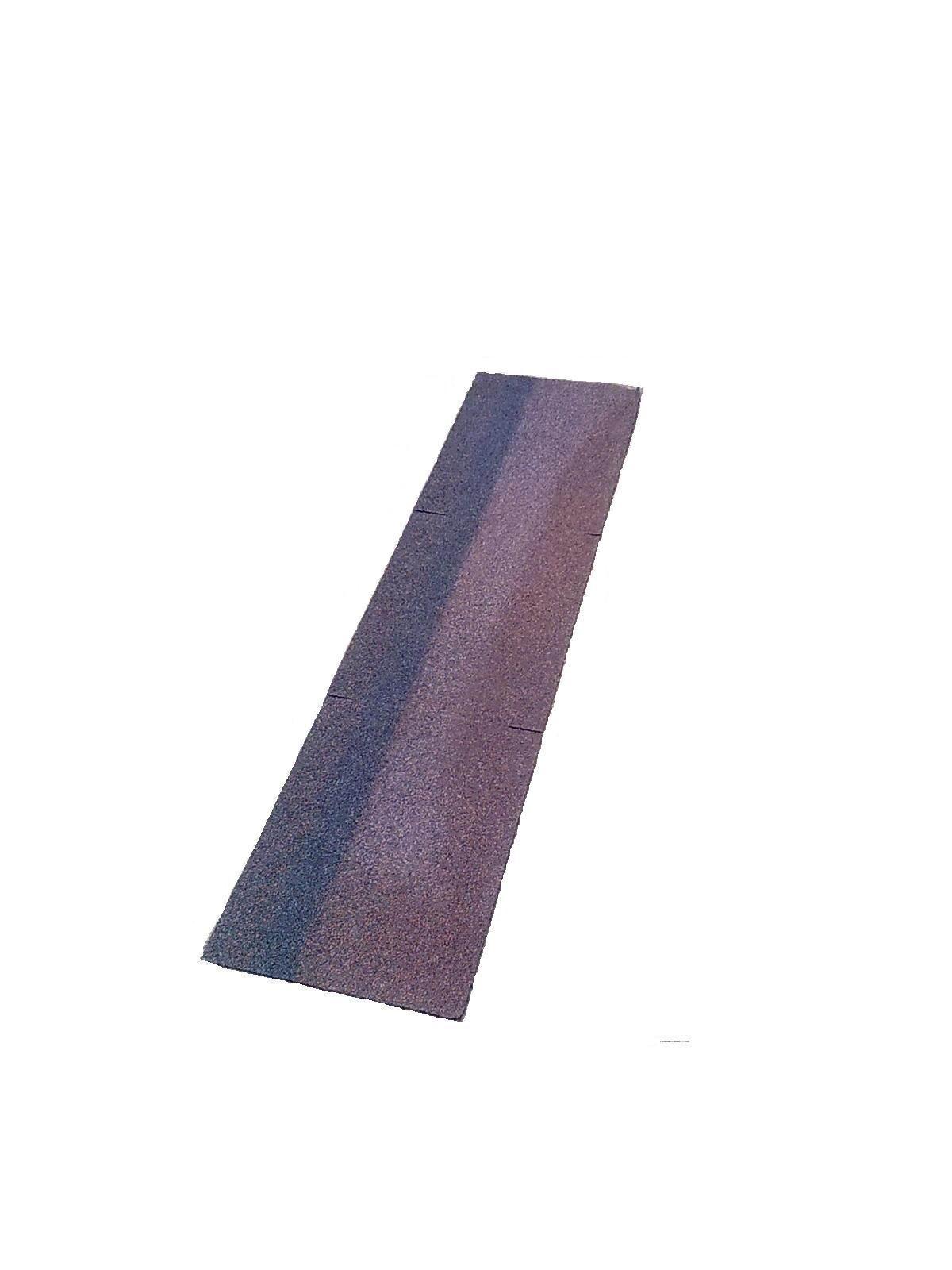 Черепица битумная коньково-карнизная ШИНГЛАС коричневая