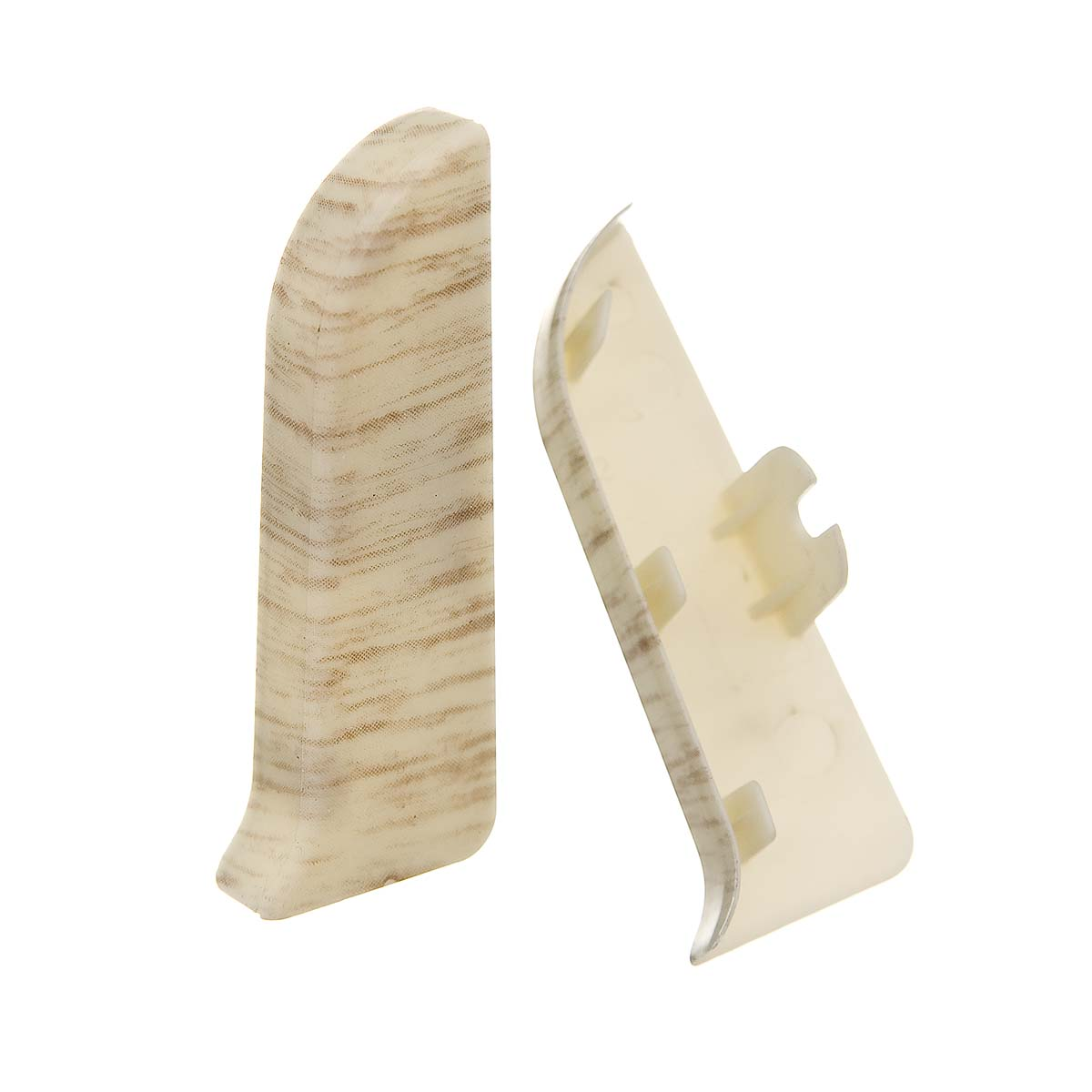 Заглушки торцевые (левая+правая) к плинтусу 68 мм клен Nexus