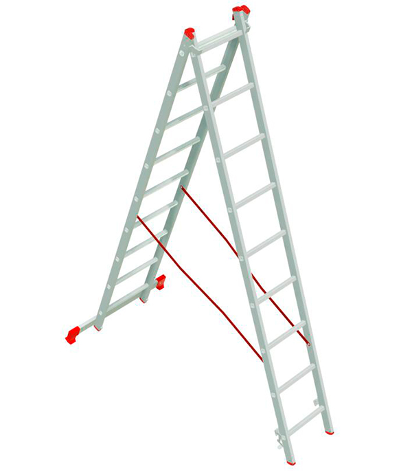 Лестница Новая высота 2-х секционная 2х9 лестница алюминиевая 3 х секционная 9 ступеней в спб
