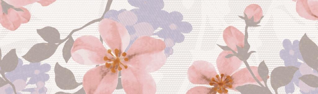 Плитка бордюр 250х75 мм Натали розовый