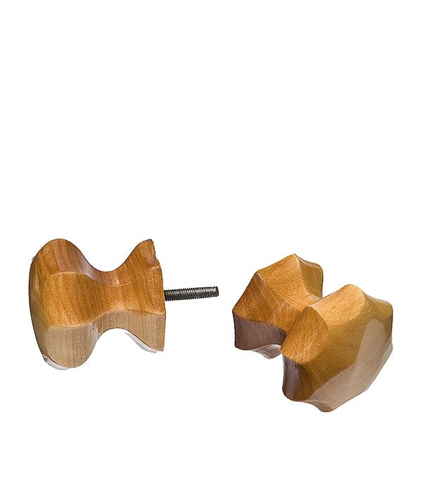 Ручка деревянная граненая Карельская береза