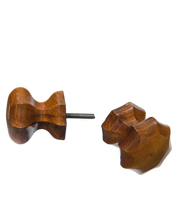 Ручка деревянная граненая Мокко
