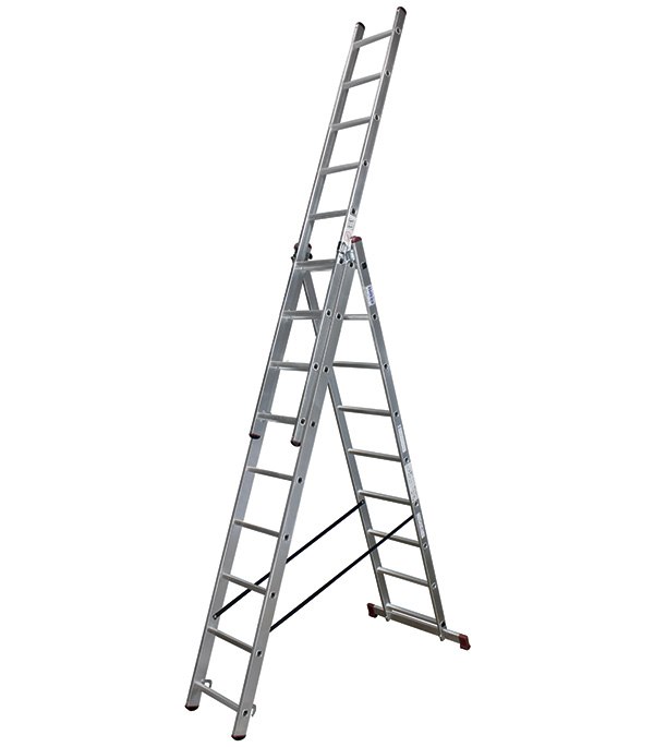 Лестница 3-х секционная бытовая 3х 9 Krause Стандарт