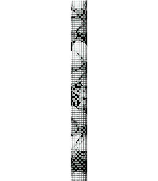 Плитка бордюр 440х40 мм Блэк энд Уайт