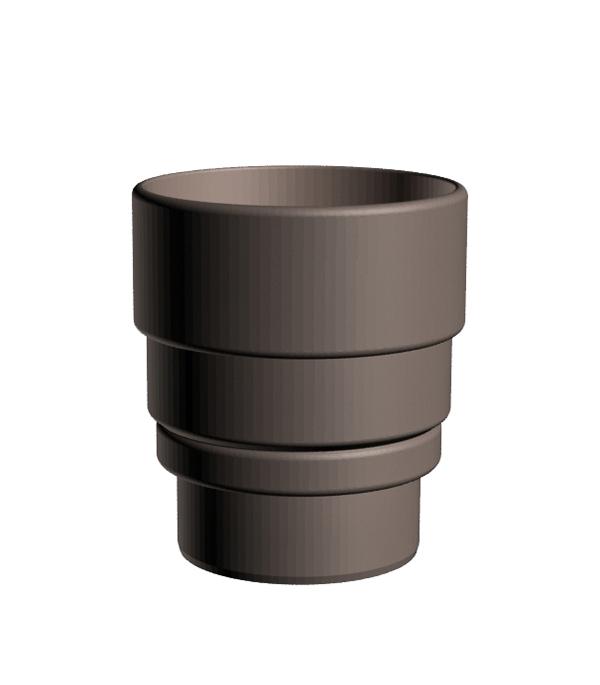 Соединение (переходник) воронок пластиковый d100 мм шоколад, DOCKE LUX соединение желоба grand line 125 мм красное вино металлическое