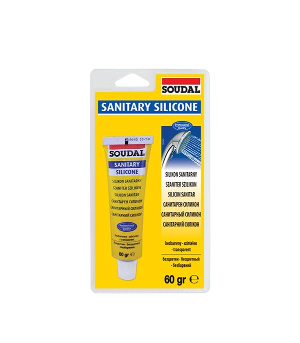 Герметик санитарный Soudal 60 гр бесцветный герметик силиконовый soudal нейтральный 300 мл бесцветный