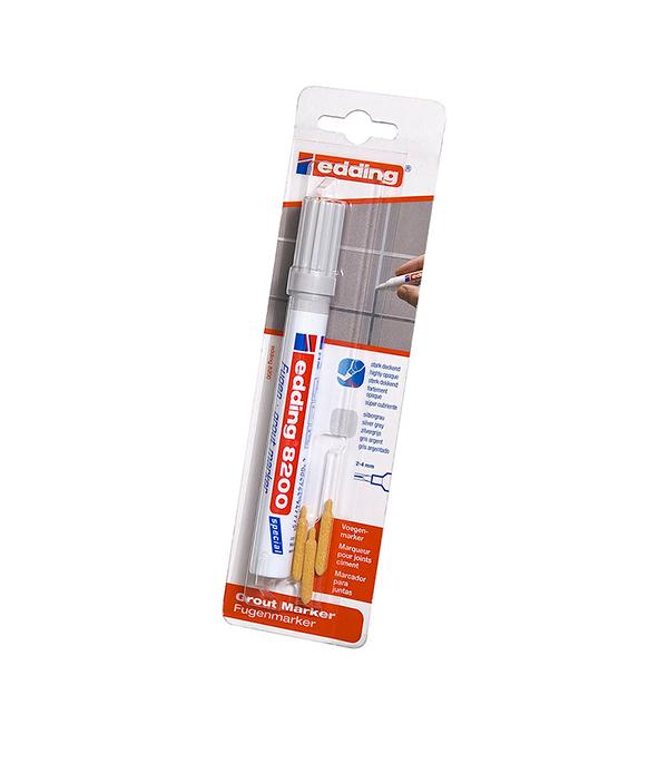 Маркер Edding 8200 серебряный для закрашивания кафельных швов 2-4 мм маркер белый для изделий из резины шин 2 4 мм edding 8050
