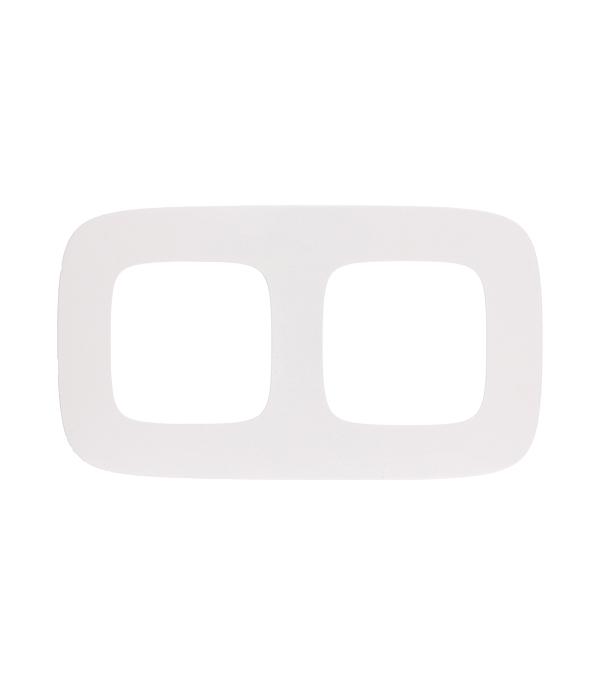 Рамка двухместная универсальная Legrand Valena Allure белая выключатель legrand quteo 2 клавишный серый 782332