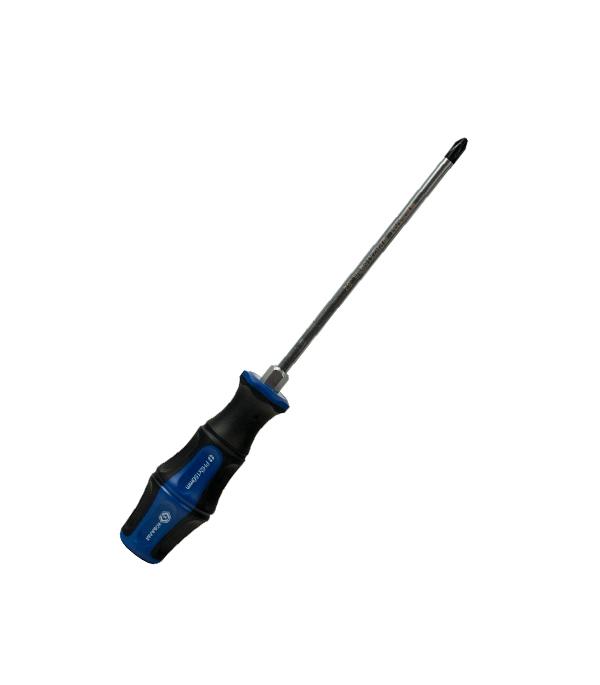 Отвертка крестовая ударная Кобальт PH-2х150 мм отвертка крестовая ph 3x150 мм ударная кобальт стандарт