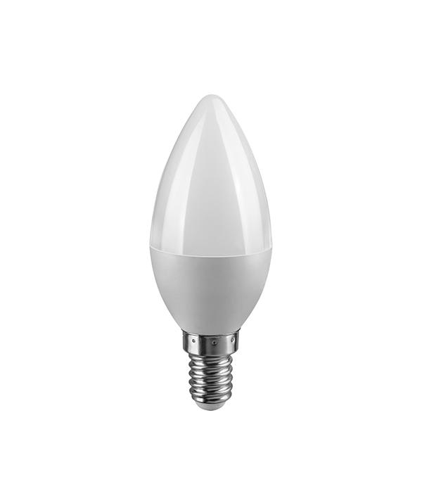 Лампа светодиодная E14 6W C37 свеча 4000K дневной свет тамоников а холодный свет луны