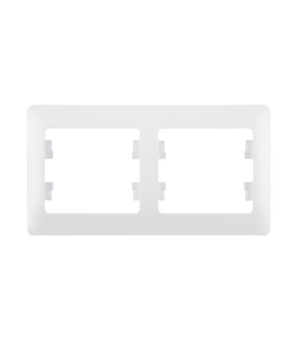 Рамка двухместная Schneider Electric Glossa белая