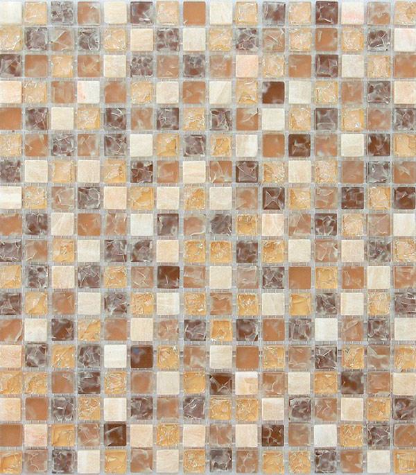 Мозаика из стекла и камня 305х305х8 мм Amazonas/Карамелле