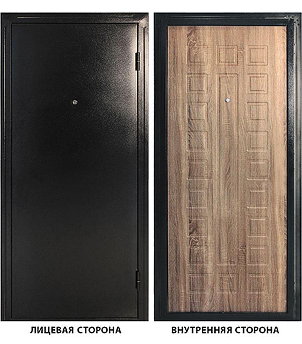 Дверь металлическая ДК Оптима 960x2050 мм правая, без цилиндра и ручки