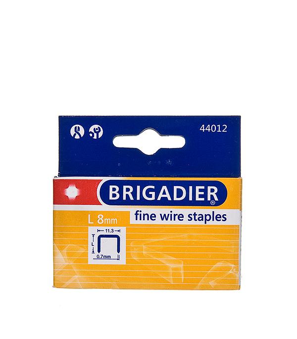 Скобы для степлера Brigadier 8 мм тип 53 (11.3х0.7) П-образные (1000 шт)