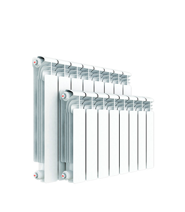 Радиатор алюминиевый 1 RIFAR Alum 350,  6 секций алюминиевый радиатор rifar alum 350 12 сек