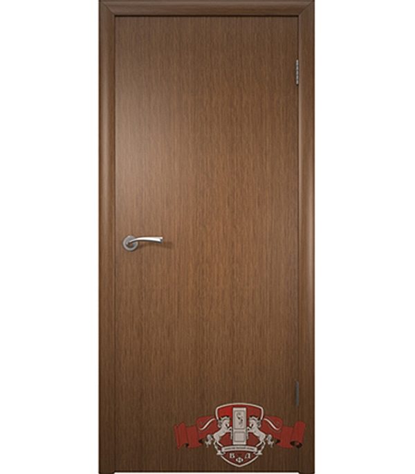 Дверное полотно Соло шпонированное  орех ПГ 800х2000 мм