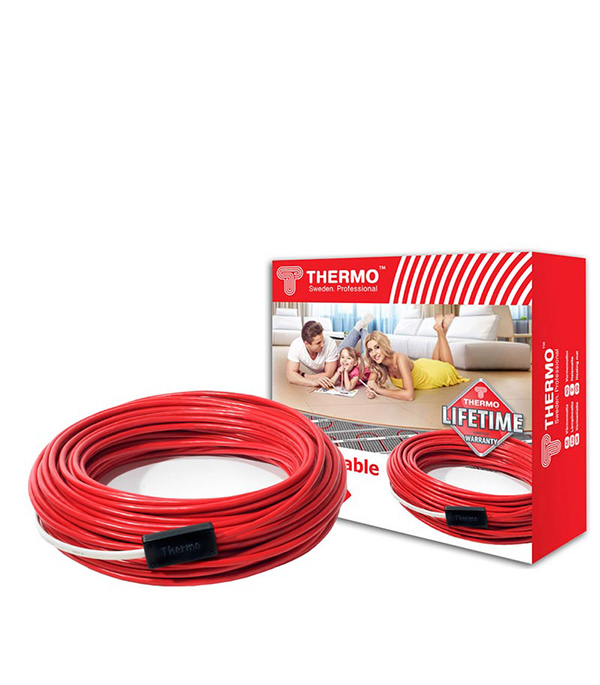 Комплект теплого пола Thermo Thermocable 44 м 7-9 кв.м/900 Вт терморегулятор для теплого пола теплолюкс тс 201 белый
