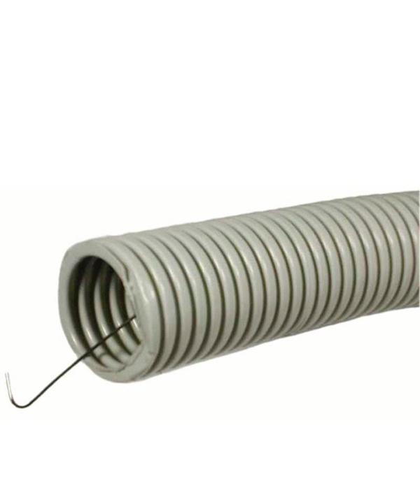 Труба ПВХ 20 мм гофрированная с зондом 100 м  труба пвх с зондом 25мм 50м ruvinil 12501