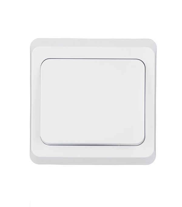Выключатель одноклавишный Этюд с/у белый выключатель одноклавишный legrandquteo о у влагозащищенный ip 44 белый